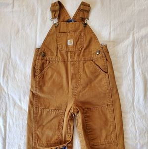 Canvas Bib Overall Flannel-lined